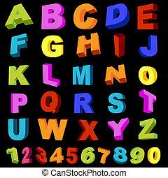brieven, en, cijfers
