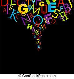 brieven, kleurrijke