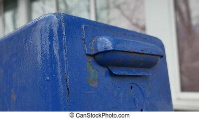 brieven, kranten, brievenbus, retro, straat., post, oud, ...