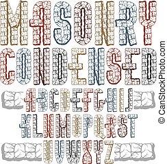 brieven, modieus, style., best, design., gebruiken, oud, draaiboek, alfabet, logotype, lettertype, hoofdstad, graniet, type, 3d, condensed, stoutmoedig, structuur, gemaakt, collection., vector, engelse , z