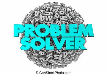 brieven, solver, uitdaging, illustratie, probleem, raadsel, 3d