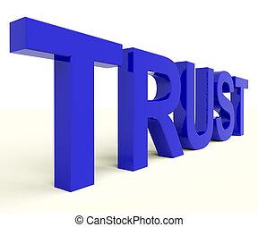 brieven, spelling, vertrouwen, als, symbool, voor, geloof,...