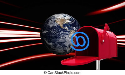 brievenbus, aarde