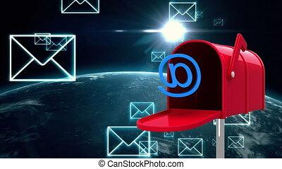 brievenbus, buitenste ruimte, aarde