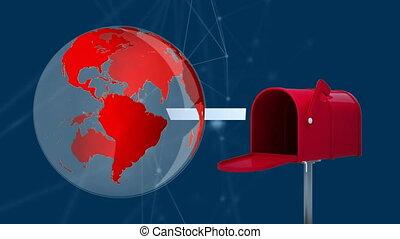 brievenbus, globe