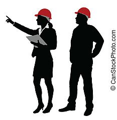 brigádvezető, dolgozó, konstruál