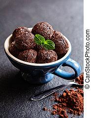 Brigadeiro - traditional Brazilian chocolate delicacy - ...