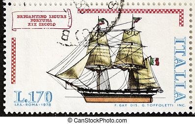 Brigantine postage stamp