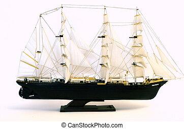 brigantine ship sailboat model white