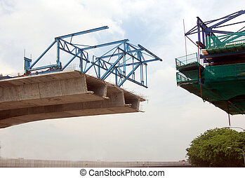 modern land bridge being constructed