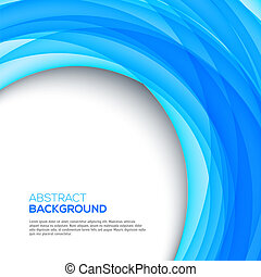 Bright 3D blue background