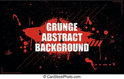 Vector illustration in grunge dirty style