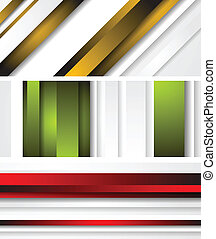 Bright abstract banners