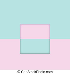 Bright abstract blue pink minimal geometric background