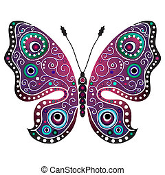 Bright abstract butterfly - Bright decorative butterfly ...