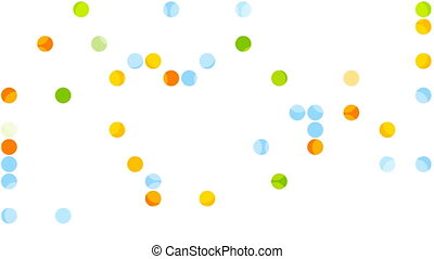 Bright abstract circles video animation