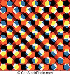 bright abstract geometric colored background for your design