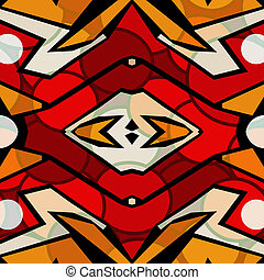 Bright abstract geometric pattern