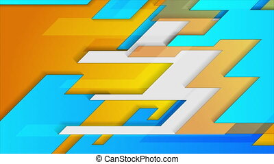 Bright abstract geometric technical motion background