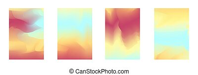 Bright abstract gradient colors backgrounds