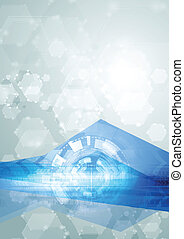 Abstract hi-tech vector blue background