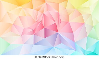 Bright abstract image in a polygon style.
