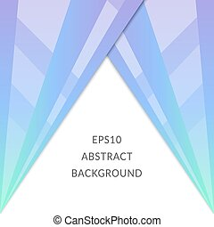 Bright abstract image with blue triangles on a white background.