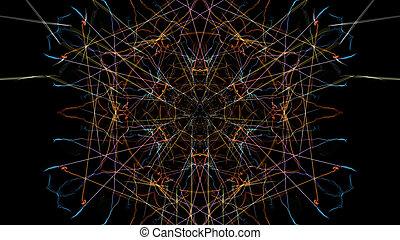 Bright abstract lighting mandala.