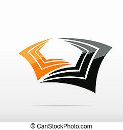 bright abstract logo design