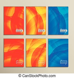 bright abstract pictures on a white background