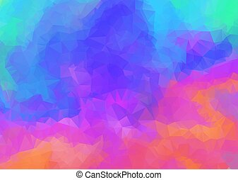 Bright abstract rainbow color polygonal background