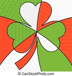 Bright abstract St. Patrick's Day shamrock in vector format.