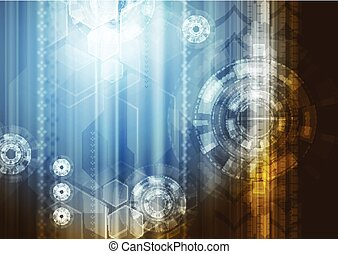 Bright abstract technology vector background