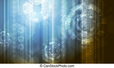 Bright abstract technology video animation