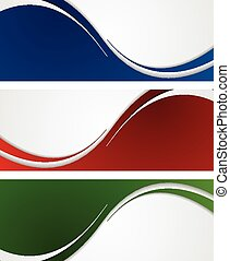 Bright abstract wavy banners