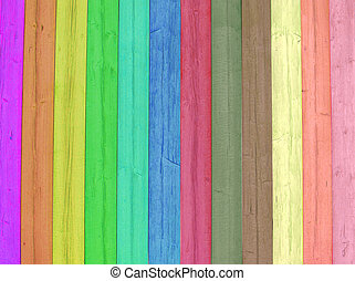 Bright and colored wood