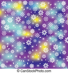 Bright and cute Christmas background with snowflakes for design, vector