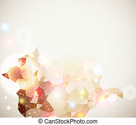 Bright and sparkling page layout for your presentation. ...