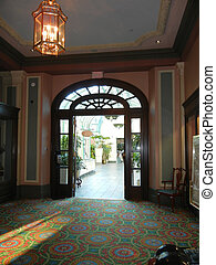 Bright antique doorway - Doorway into antique atrium