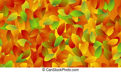 Bright autumn leaves abstract video animation