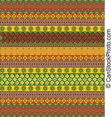 Bright aztec pattern vector
