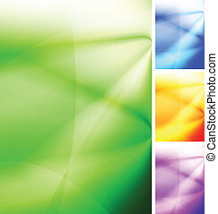 Bright backdrops - Vibrant abstract background. Four colors....