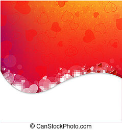 Bright Background From Red Hearts