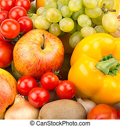 background of fruit and vegetables