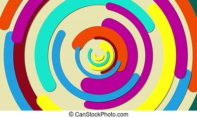 Bright background with a spiral effect of rotation. Colored ...