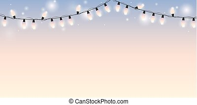 bright background with christmas fairy lights
