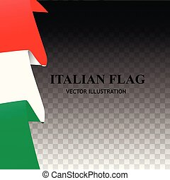 Bright illustration with italian flag. Happy Italy day background. Background with flag of Italy. Vector illustration.
