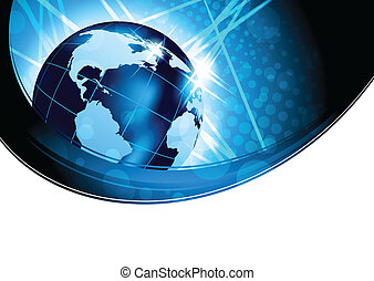 Bright background with globe