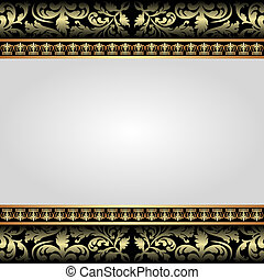 bright background with golden ornaments
