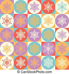 Bright background with snowflakes